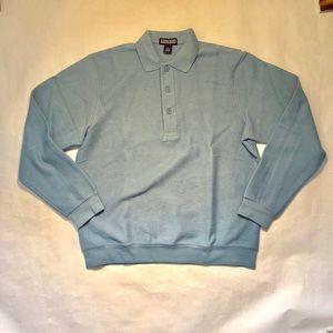Lands End Mens Polo Shirt Light Blue  M 38-40 New